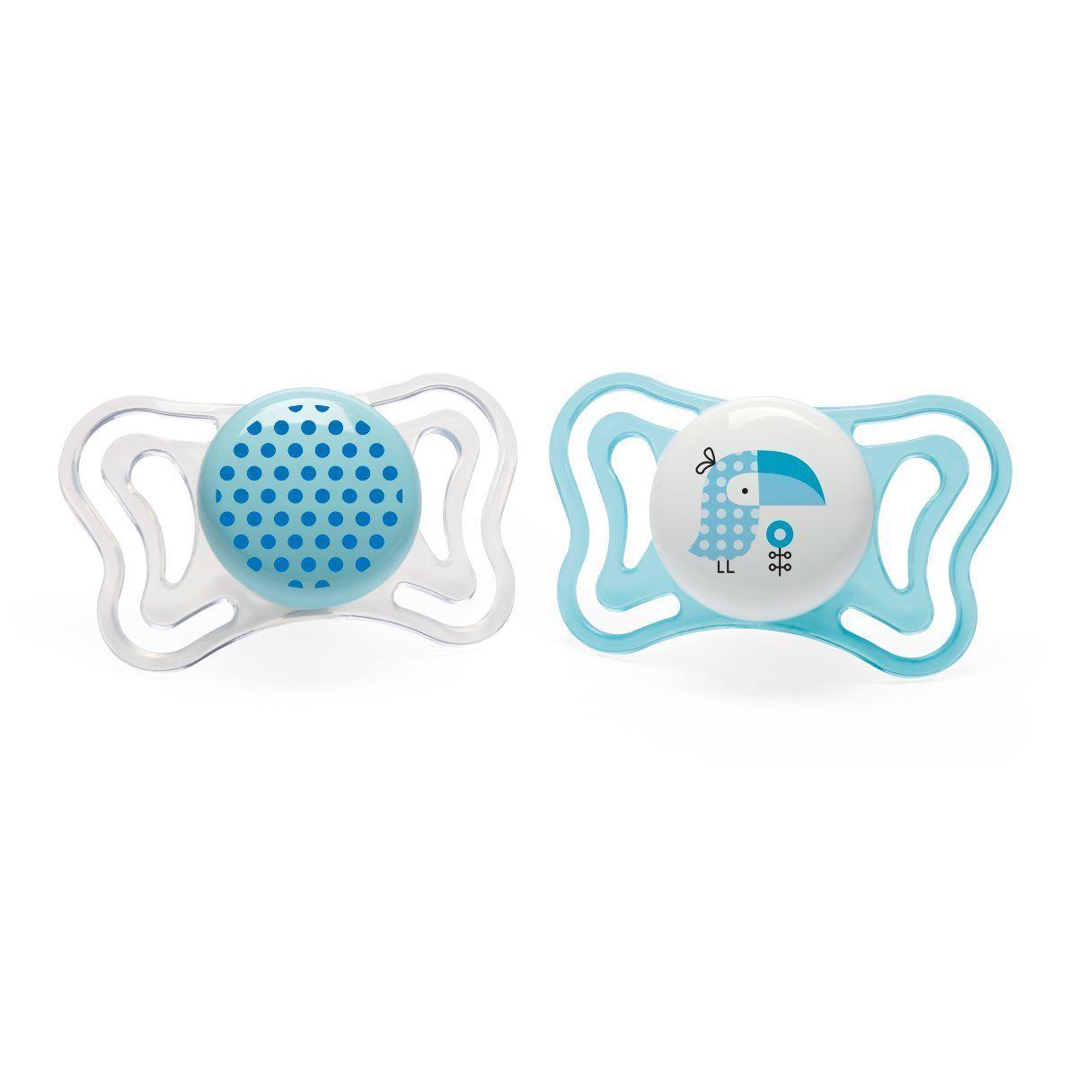 Cumlík Physio Light, silikón, 2-6m+, modrá, 2ks