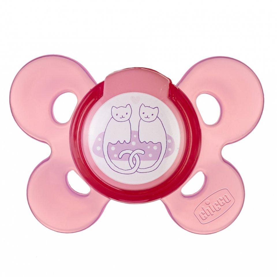 Cumlík silikónový Physio Comfort ružová 1ks 6-12m