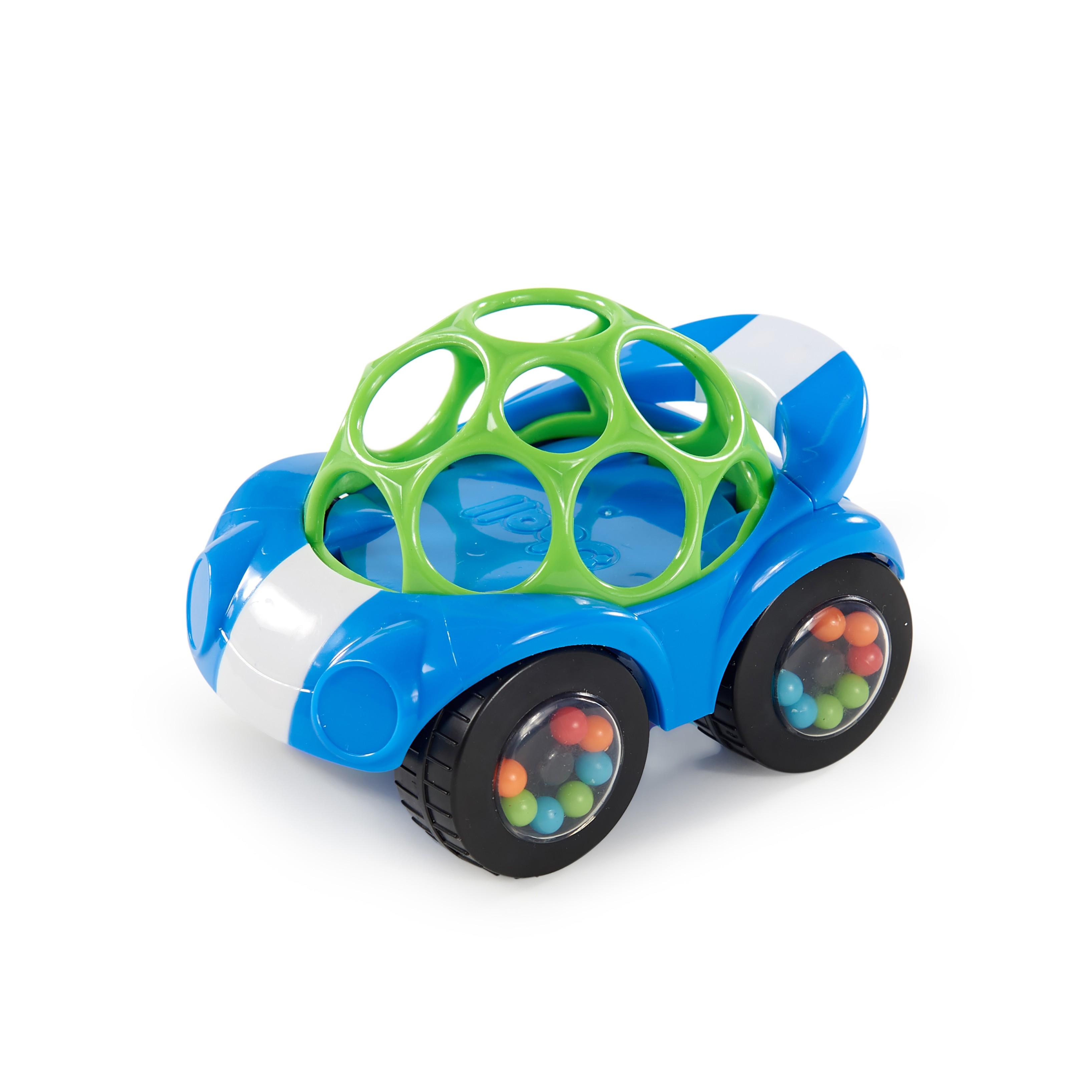 Hračka autíčko Rattle&Roll Oball™ modro/zelené 3m+