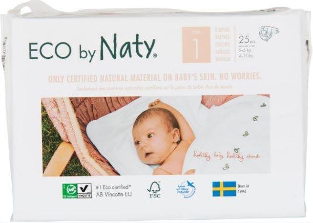 Plienky jednorázové 1 Newborn 2-5kg 25ks Naty Nature Babycare