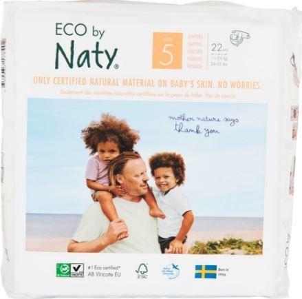 Plienky jednorázové 5 Junior 11-25kg 22ks Naty Nature Babycare