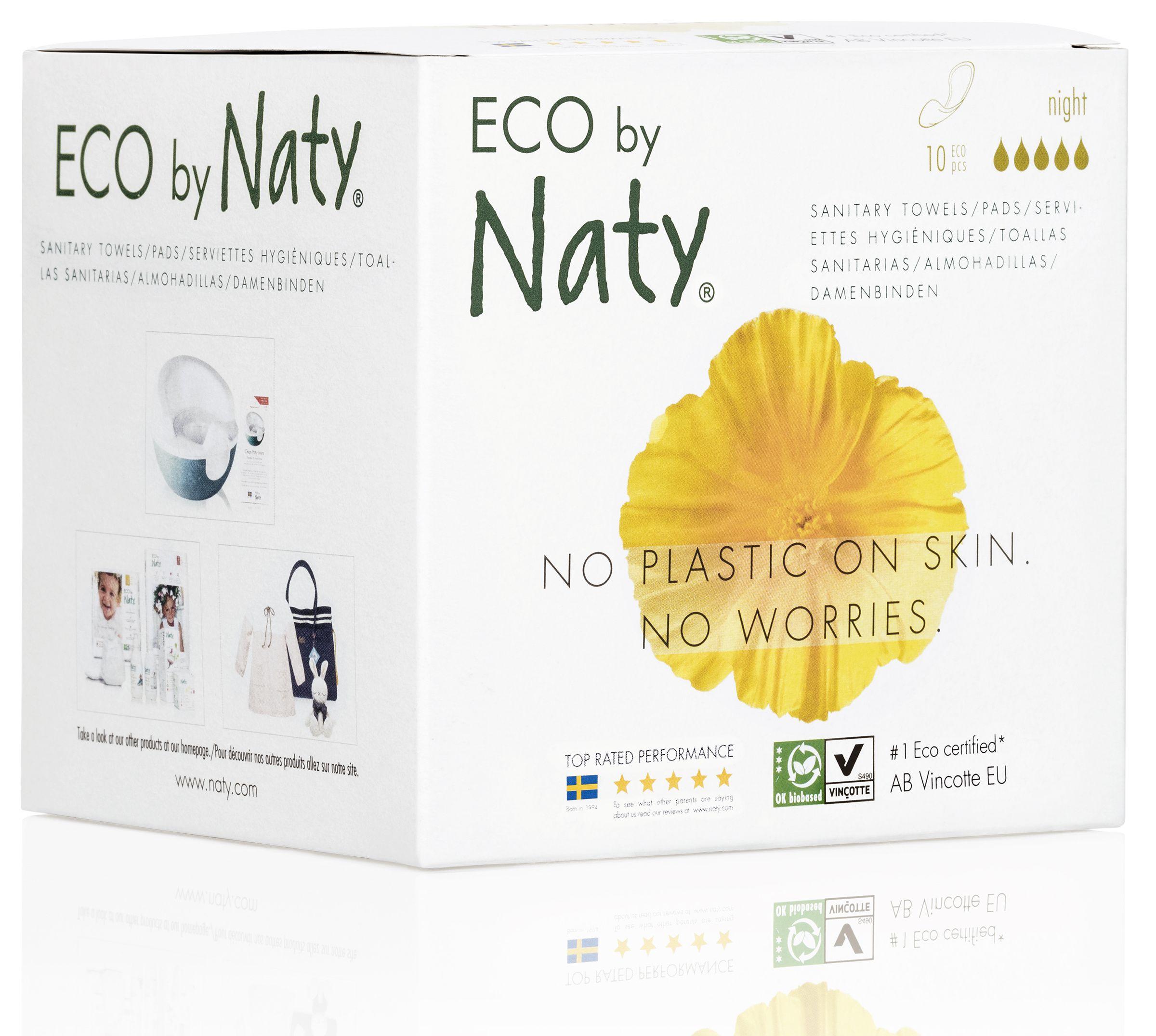 Vložky dámske hygienické nočné 10ks Naty Nature Babycare