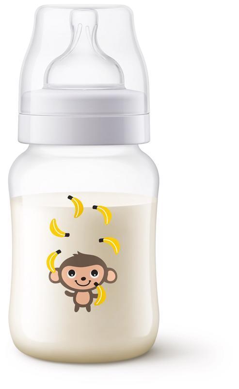 Avent fľaša 260ml Antikolik opica