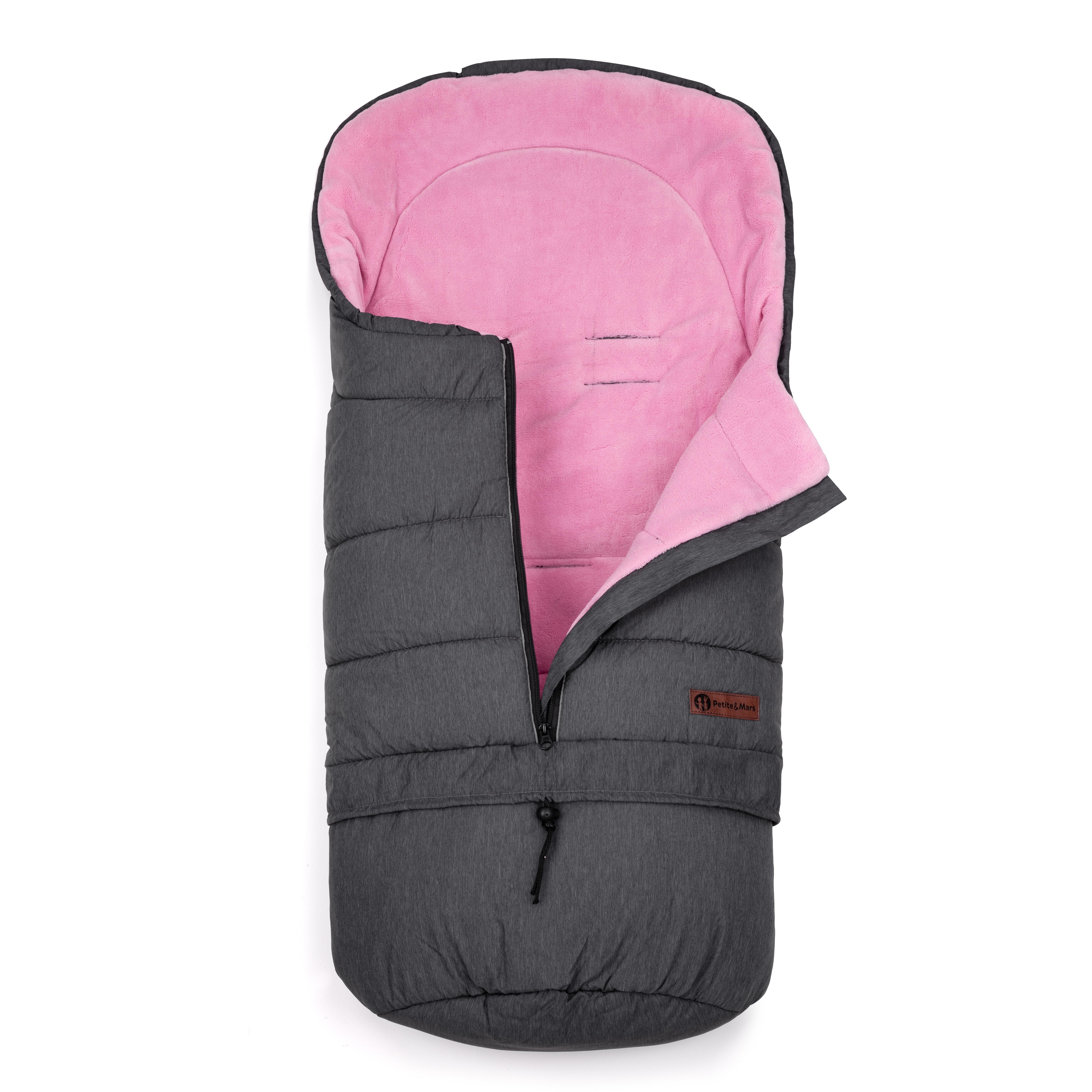Fusak predĺžiteľný Sven 3v1 Light Grey- Pink Petite&Mars