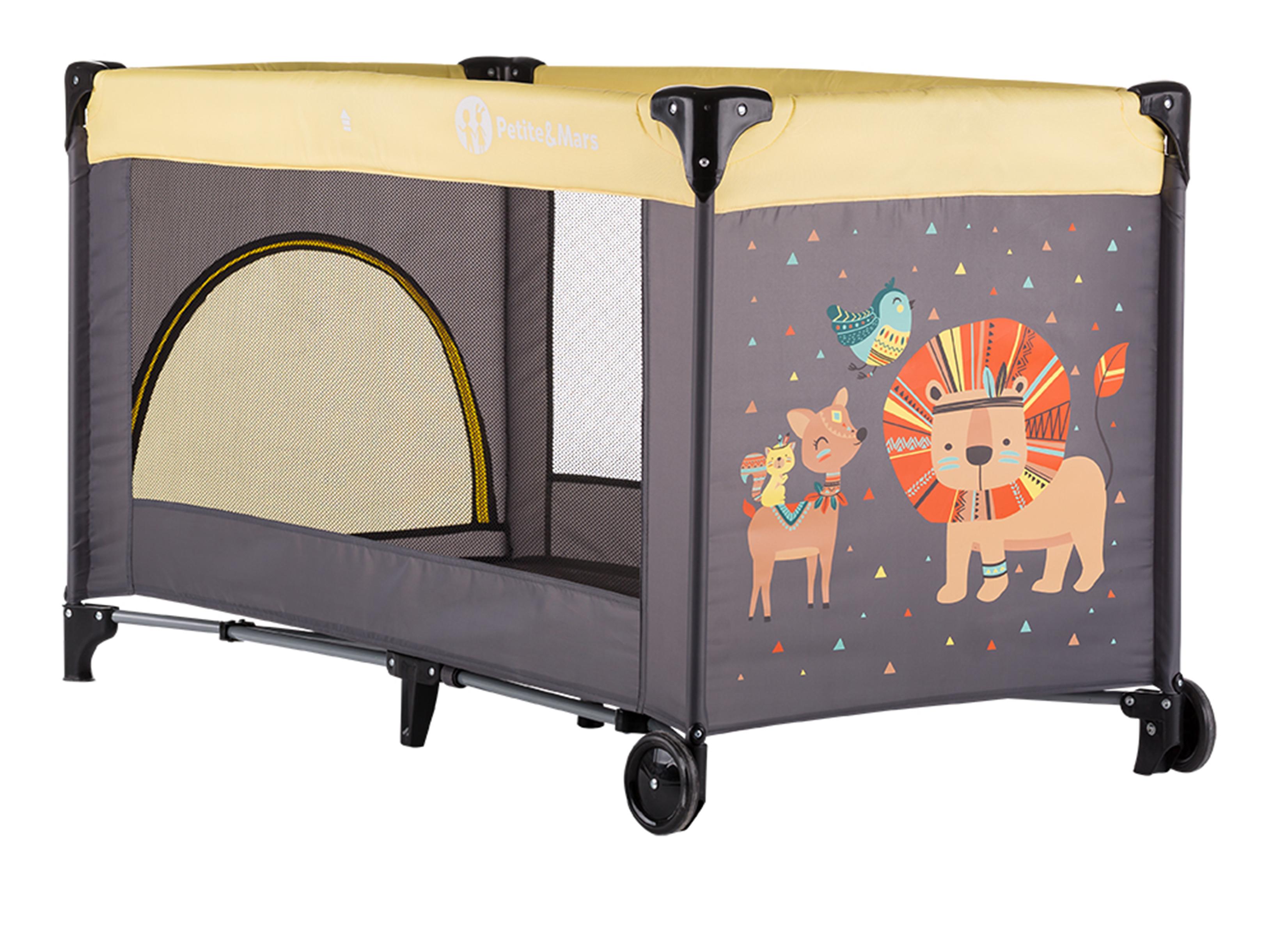 Postieľka cestovná Koot Lion Yellow Petite&Mars