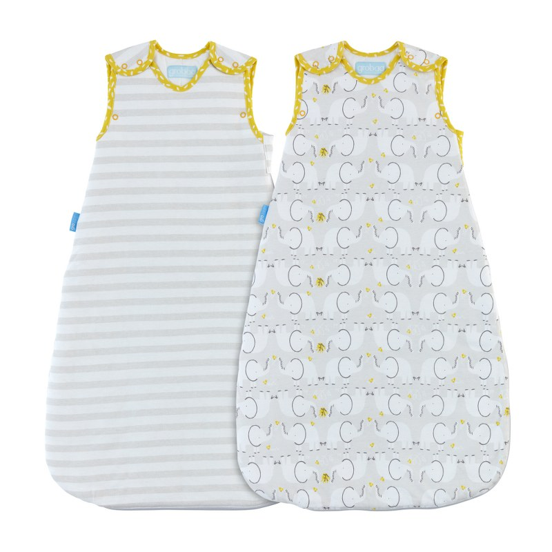 Vak spací Elephant Love - Wash and Wear - Twin pack 1 Tog 0-6m