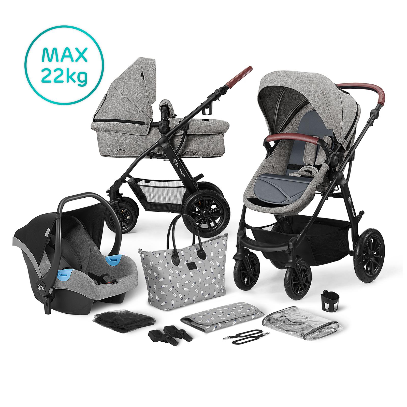 Kočík kombinovaný 3v1 XMOOV Grey Kinderkraft 2020