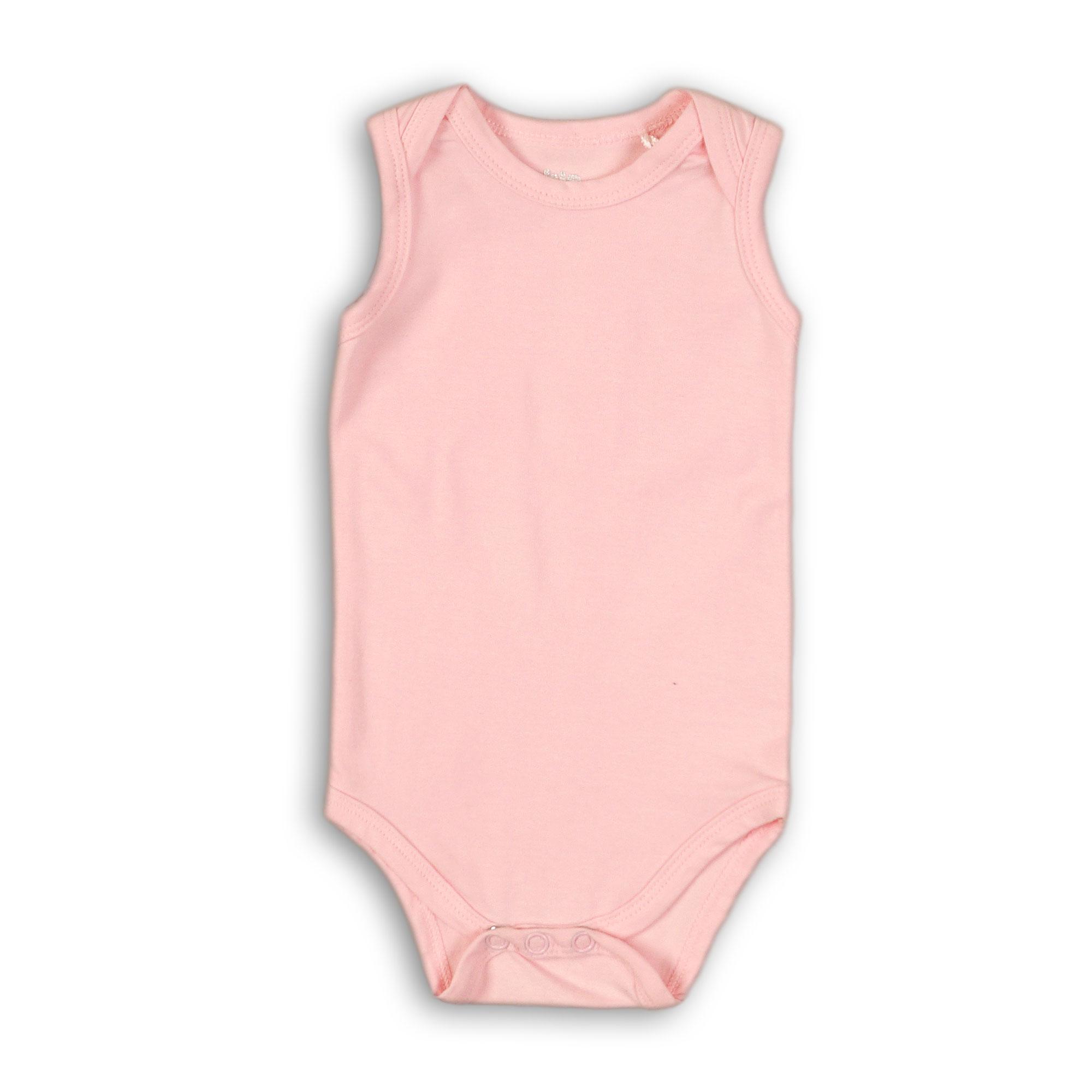 Body bez rukávov Basics 62/68 Light pink