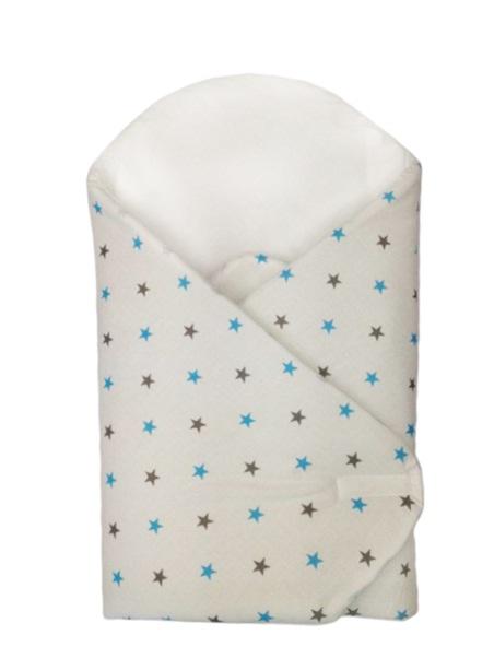 Zavinovačka, modré hviezdičky 75x75 cm