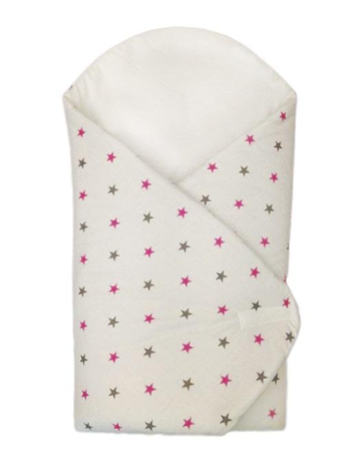 Zavinovačka, ružové hviezdičky 75x75 cm