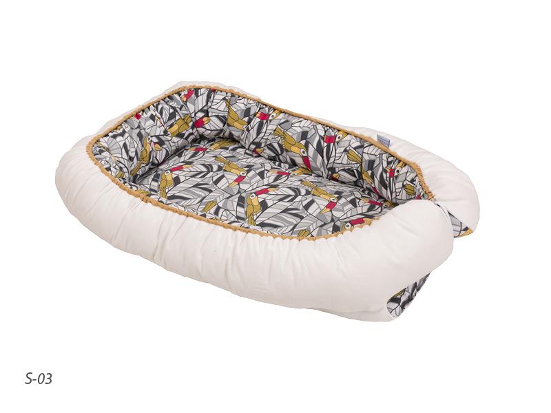 Hniezdo pre bábätko obojstranné TUCAN biele