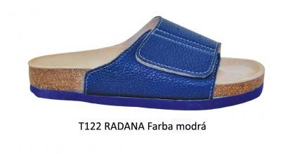 PROTETIKA Ortopetická obuv (Šľapky) T122 RADANA Modré, veľkosť 39