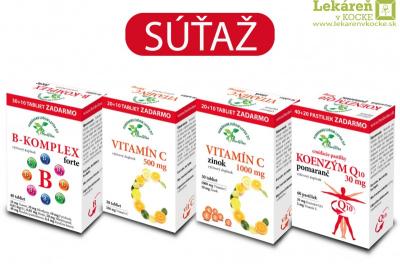 Súťaž na facebooku - pravidlá súťaže, štatút súťaže - 1ks Vitamín C - zinok.......
