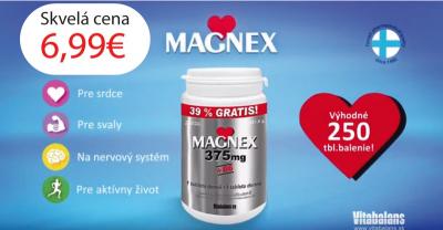 MAGNEX 375 MG + B6 TBL za SKVELÚ CENU