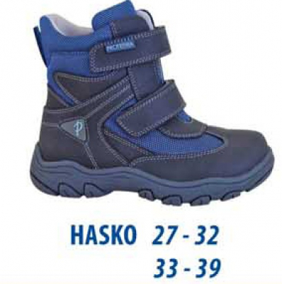 Protetika Chlapčenské zimné topánky HASKO - šedo-modré