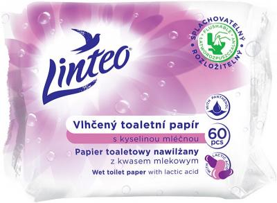 Linteo Vlhčený toaletný papier s kyselinou mliečnou 60 ks