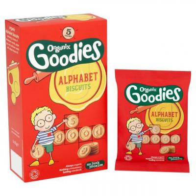 Organix Goodies Abecedové keksíky (5x25g)