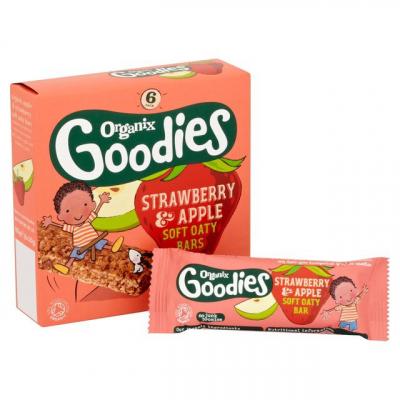 Jahodovo – jablkové tyčinky (6x30g) - Goodies - ORGANIX