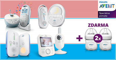 AKCIA Ku každému monitoru dostanete 2 dojčenské fľaše Philips AVENT
