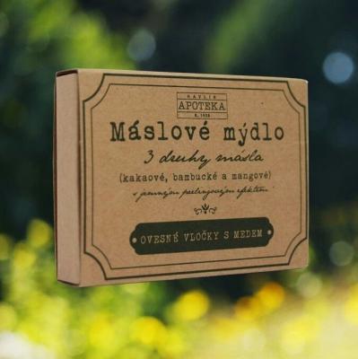 HAVLÍKOVA APOTÉKA - Maslové mydlo - Ovsené vločky s medom