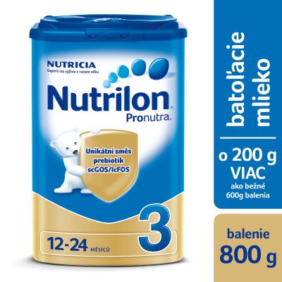 Nutrilon 3 Pronutra batoľacia mliečna výživa v prášku (od ukonč. 12. mesiaca) 1x800 g
