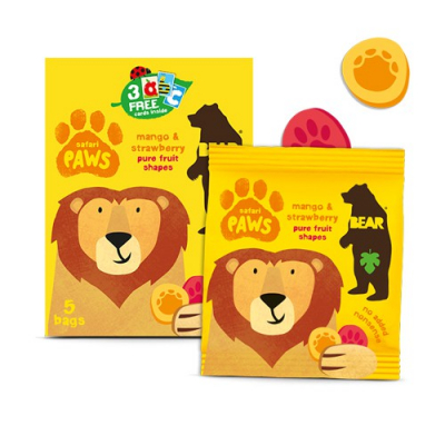 BEAR - Mango a jahoda – Safari labky (5x20g)