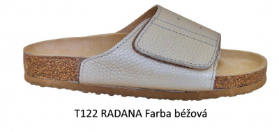 PROTETIKA Ortopetická obuv (Šľapky) T122 RADANA Béžová , veľkosť 38