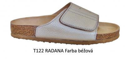 PROTETIKA Ortopetická obuv (Šľapky) T122 RADANA Béžová , veľkosť 40