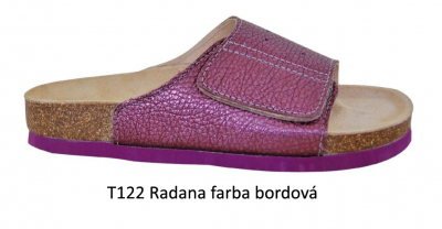 PROTETIKA Ortopetická obuv (Šľapky) T122 RADANA Bordová, veľkosť 38