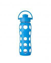 Lifefactory sklenená fľaša, s flip uzáverom