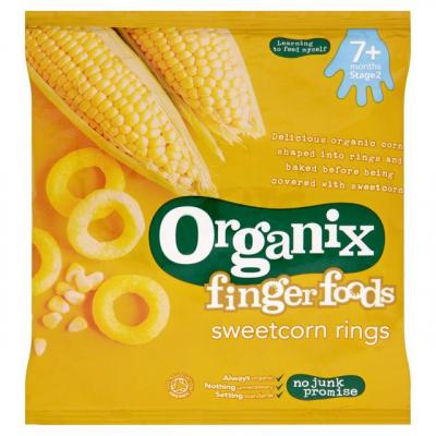 Organix Sladkokukuričné prstene (20g)