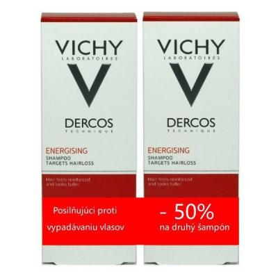 VICHY DERCOS ENERGISANT DUO 2018 posilňujúci šampón (50% zľava na druhý šampón) 2x200 ml, 1x1 set