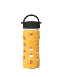 Lifefactory sklenená fľaša s klasickým uzáverom - 350ml Marigold