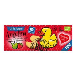 Angelina Bezlepkový snack jablko jahoda Bio 30 g