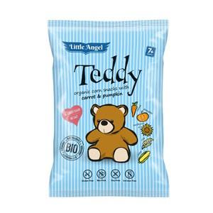 Little Angel Snack kukuričný Teddy mrkvu a tekvica BIO 30g