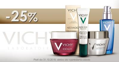 Jesenná 25% zľava na vybrané produkty VICHY