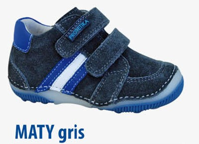 Detská kožená obuv PROTETIKA MATY gris číslo 21