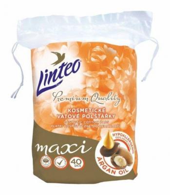 Linteo Premium odličovacie tampóny Maxi Argan oil 40 ks