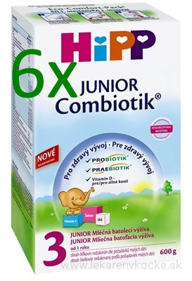 HiPP 3 JUNIOR Combiotic 6x600 g