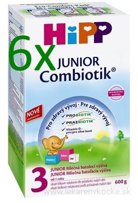 HiPP 3 JUNIOR Combiotic 6x600 g