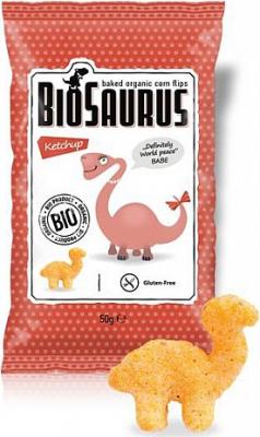 Biosaurus BIO chrumky s kečupem 50g