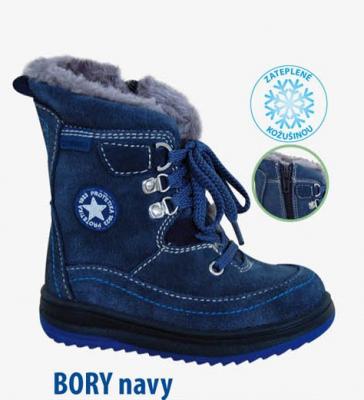 96464d38ec81 Protetika Zimná detská obuv Bory navy veľkosť 24