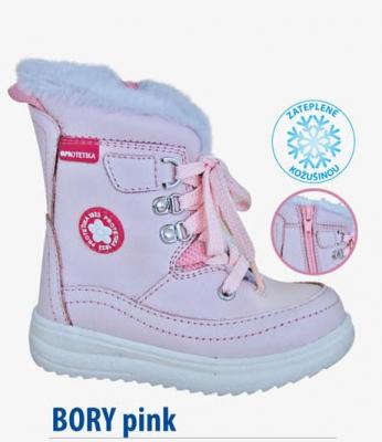 Protetika Zimná detská obuv Bory pink číslo 25 71e9d975364