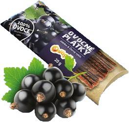 OVOCNÉ PLÁTKY jablko čierna ríbezľa bez cukru  20g