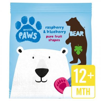 Bear Nibbles Malina a čučoriedky – Arctic labky (20g)