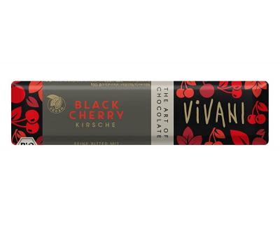 Vivani Horká čokoláda s višňami Bio 35g