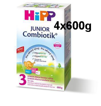 HiPP MLÉKO 3 JUNIOR Combiotik 4x600 g