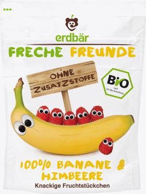 100% banán a malina sušené mrazom BIO 16g