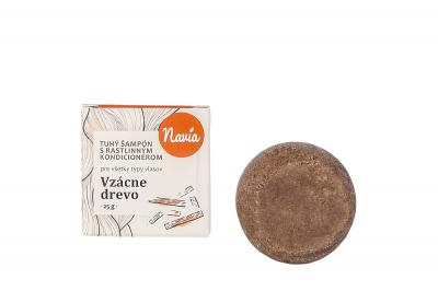 Navia Vzácne drevo, tuhý šampón 25 g