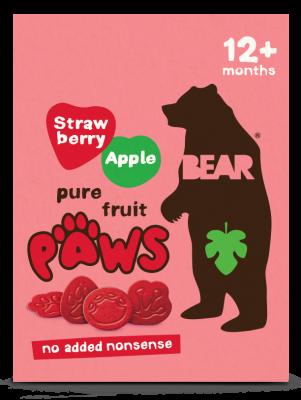 BEAR Jahoda a jablko – Dino labky (5x20g)